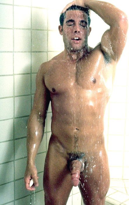 Nude Men Taking A Shower
